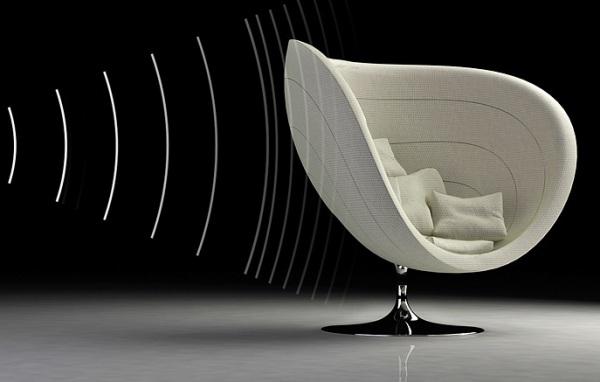 Rosa - Poltrona mit Akustik - Design Möbel