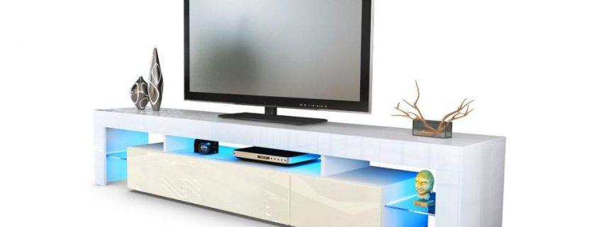 TV Lowboard weiß hochglanz