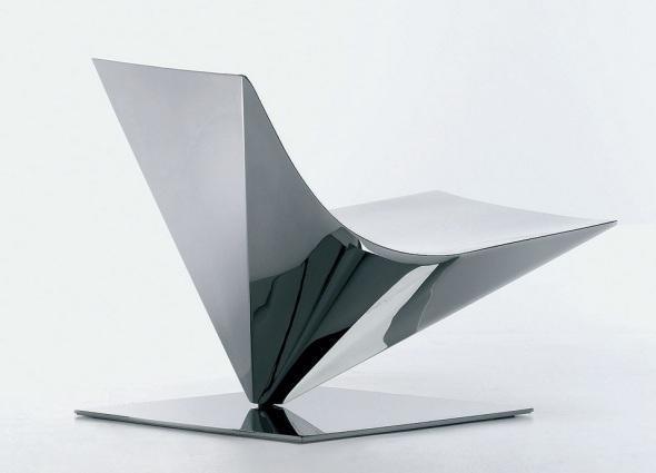 Lofty Designsessel aus Stahl, Bild MDF Italia