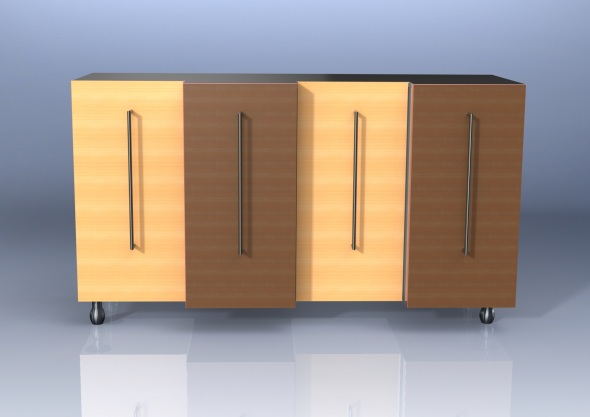 Face Sideboard in Holz