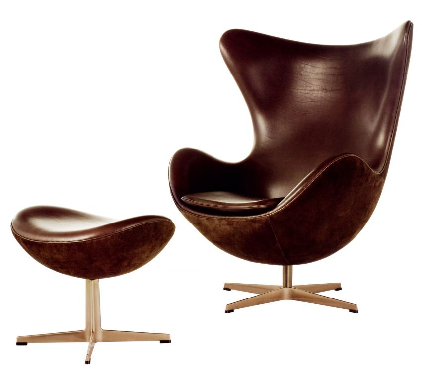 Ei sessel von arne jacobsen design m bel for Moderne sessel mit hocker