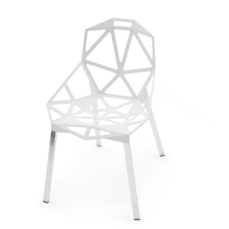 Chair one in weiss, ein High Tech Gartensessel