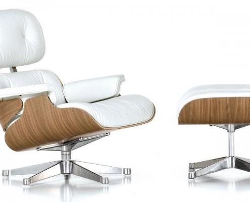 Auch in weiß macht der Lounge Chair eine exzellente Figur