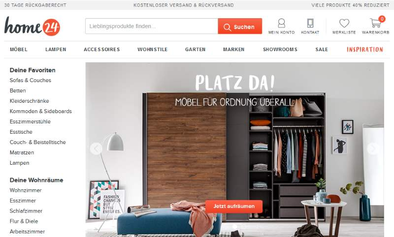 home24 Möbel Onlineshop