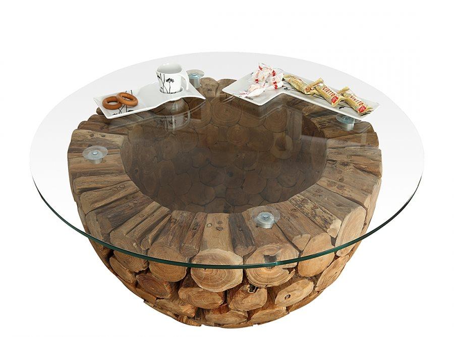 Design Wohnzimmertisch Holz ~ wohnzimmertisch holz rund Designer Couchtisch für moderne Wohnungen