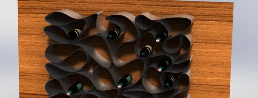 exklusives weinregal f r die weinpr sentation wine loop. Black Bedroom Furniture Sets. Home Design Ideas