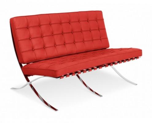 Barcelona Style Sofa von Mies Van Der Rohe