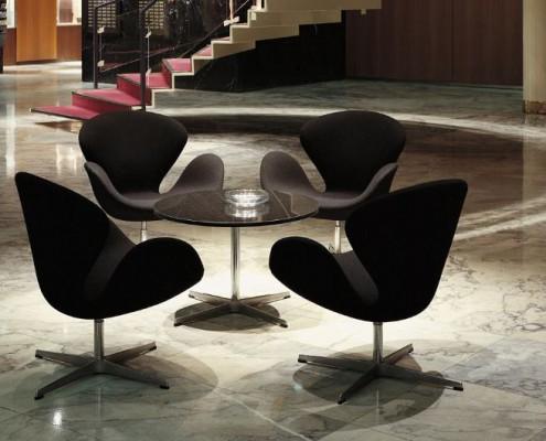 Swan Chair oder Schwan Sessel von Arne Jacobsen