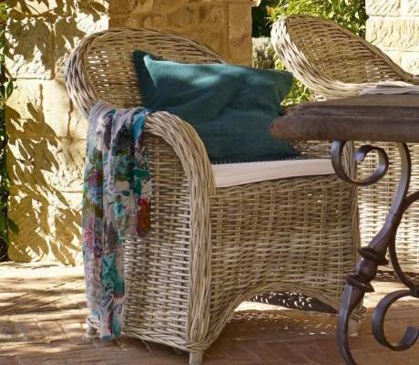 Schöner Sessel aus Rattan