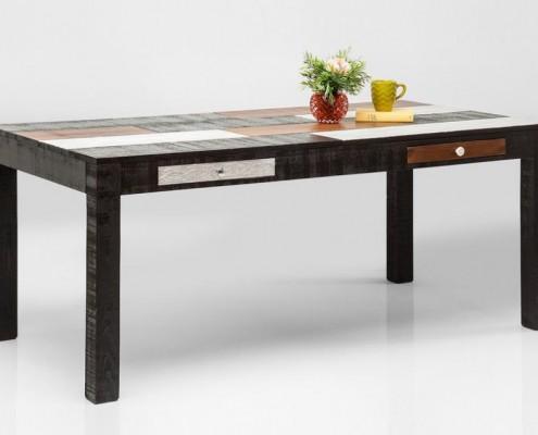 esstisch regal und lowboard im used look design m bel. Black Bedroom Furniture Sets. Home Design Ideas