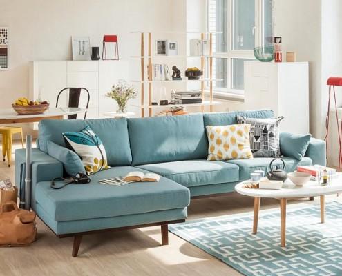 Ecksofa Billund im trendigen skandinavischen Design