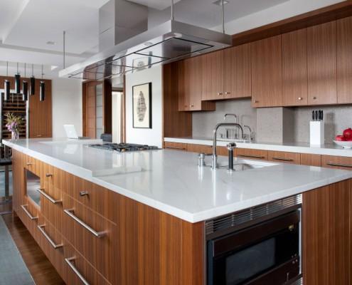 Die Küche im dezenten Stil