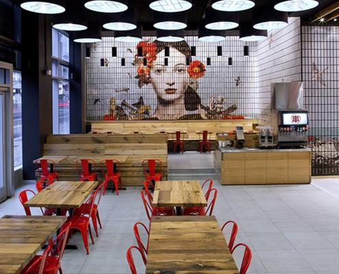 Lokaleinrichtung des Satya Eastern Kitchen Restaurants