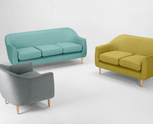 Tubby Sofa im skandinavischen Stil