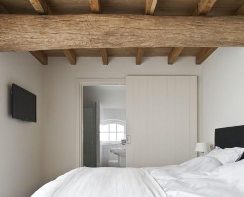 Schlafzimmer mit tollen Balken