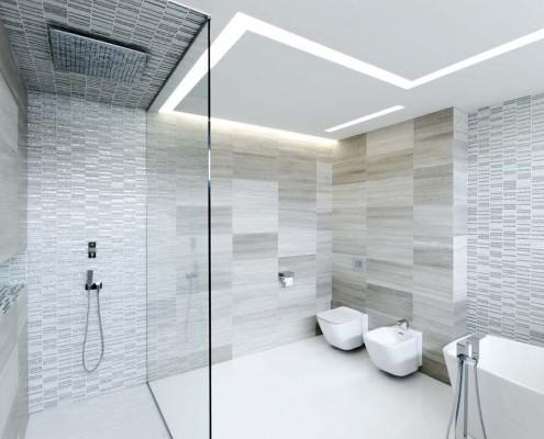 Wunderschönes funktionelles Badezimmer