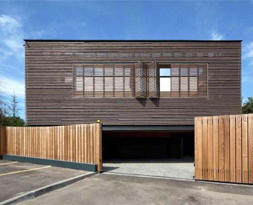 Außenfassade aus Holz