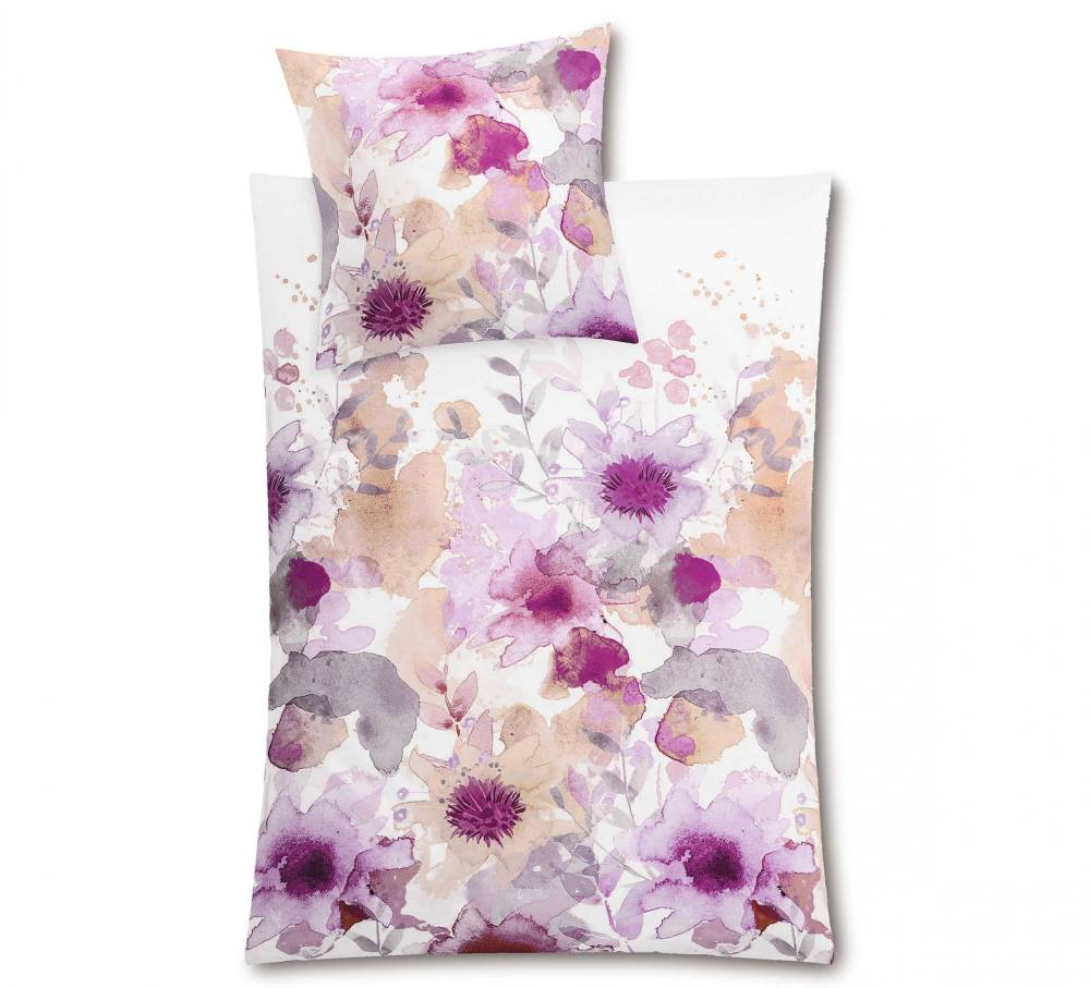 Flores Bettwäsche mit Aquarellmotiv