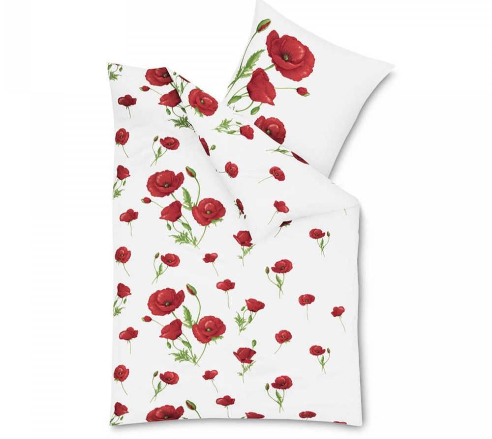 Bettwäsche mit Mohnmotiv