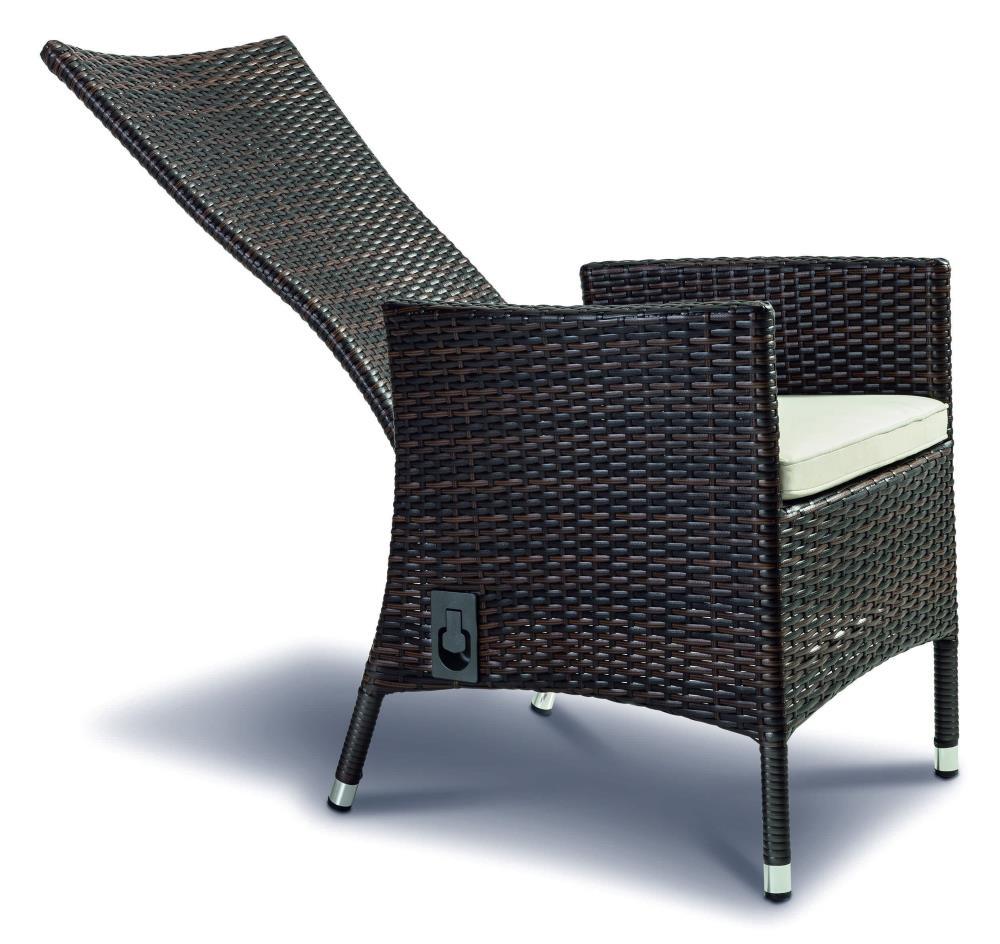 Relaxsessel oder Multipositionssessel aus Aluminium und Polyrattan