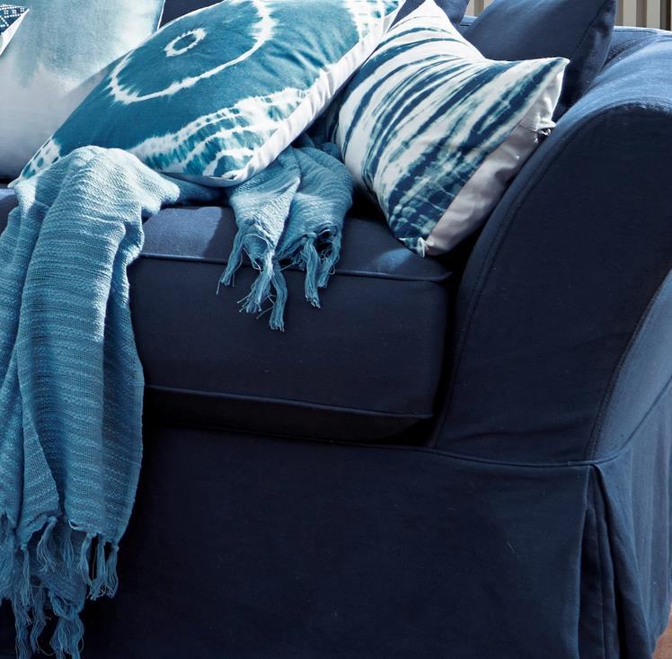 Das blaue Sofa Worcester mit Polster