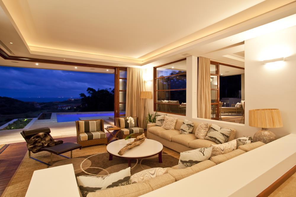 Villa Pollock Wohnzimmer mit Blick zum Ozean