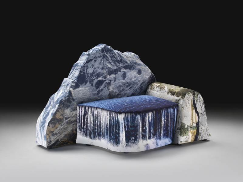 Montanara Sofa in der Form eines Berges