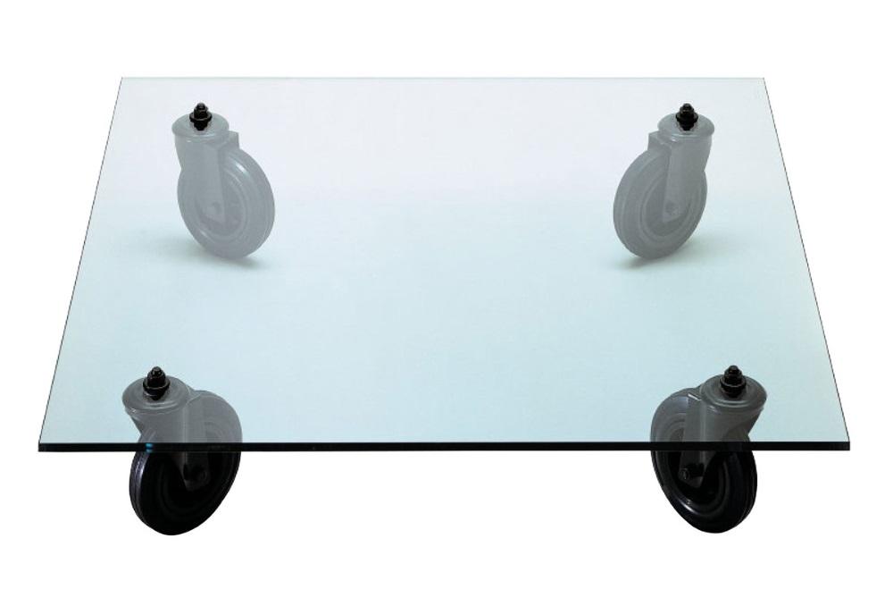 Minimalistischer Couchtisch tavolo-con-ruote