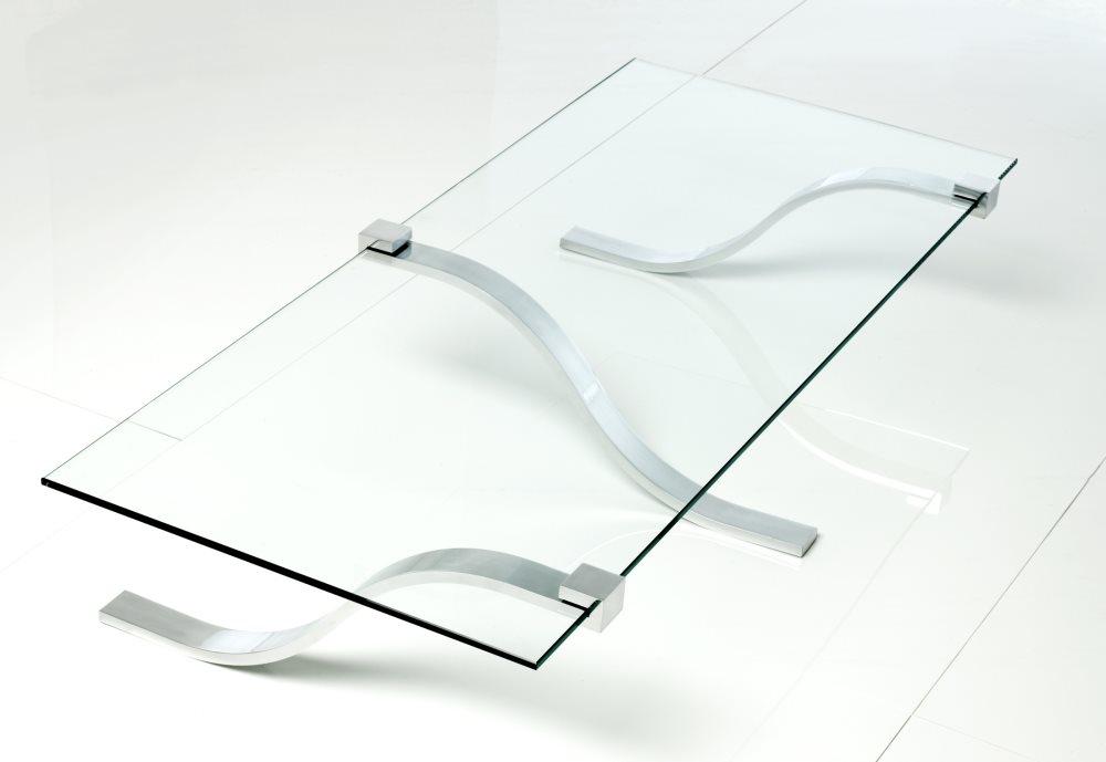 Lyx Cyma Couchtisch exklusifes Design in Glas und Stahl