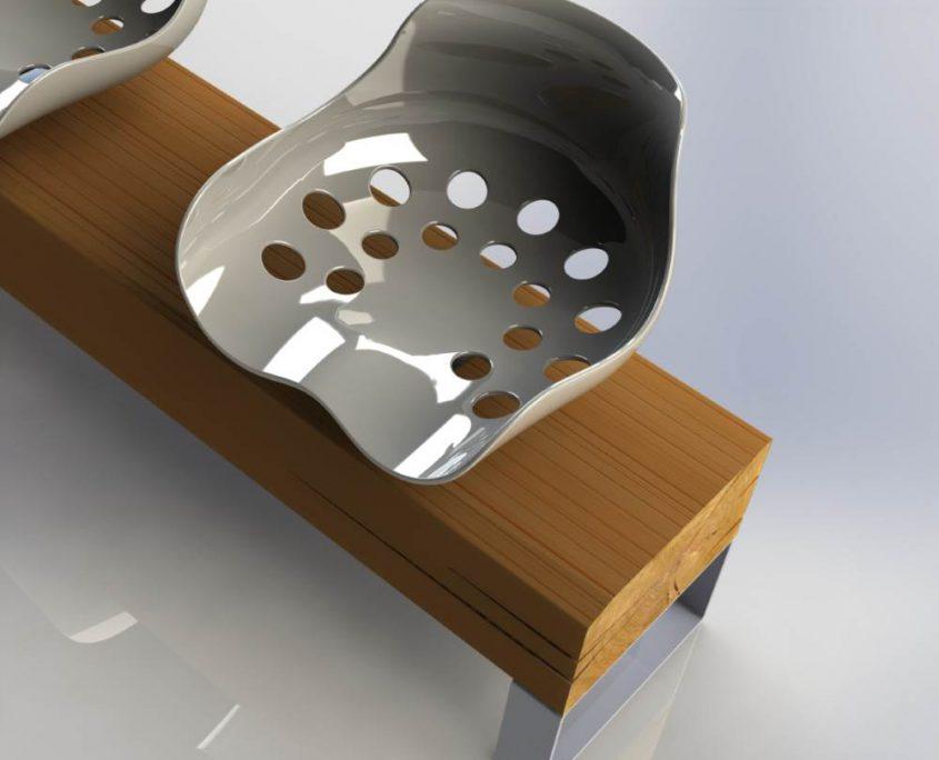 Detail mit Sitzschale