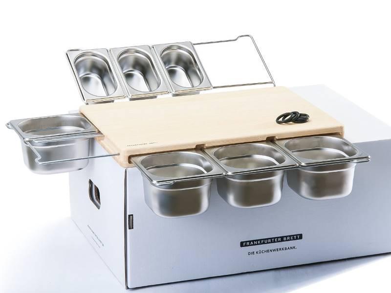 Schneidebrett oder Frankfurter Brett, die Innovation für Küchenprofis. Übersichtlich und geordnet