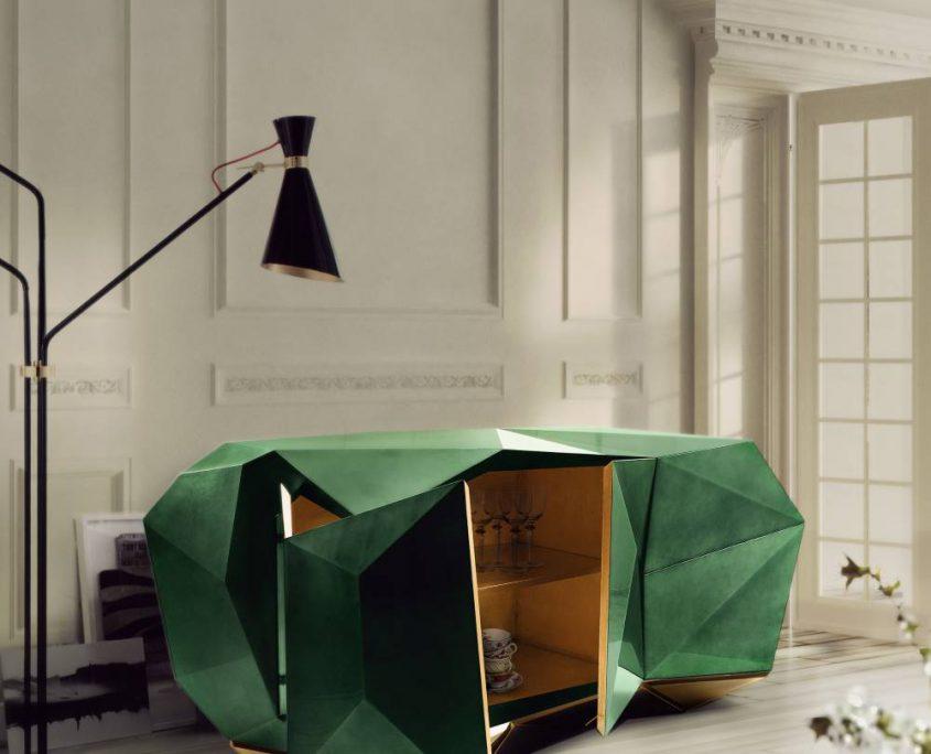 Diamond Emerald Sideboard die Wirkung dieses Möbels ist enorm