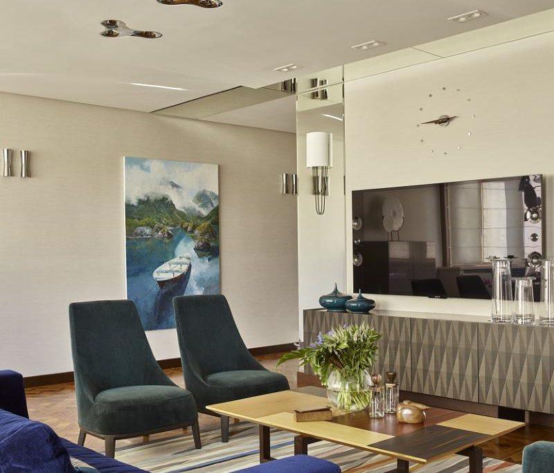 Wohnbereich mit Designerlampen