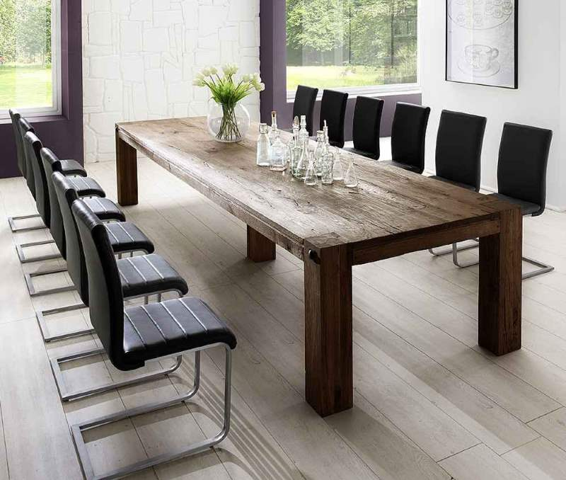 rustikaler esstisch 6 exemplare die sich nicht nur zum. Black Bedroom Furniture Sets. Home Design Ideas