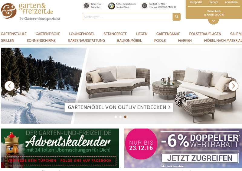 Garten und Freizeit online Shop