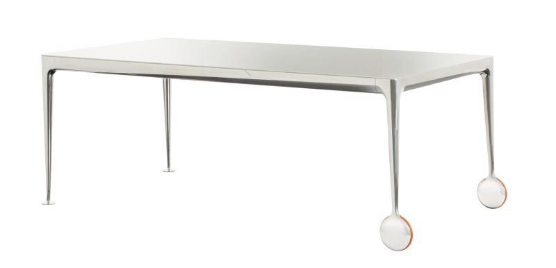 Esstisch weiß Aluminium