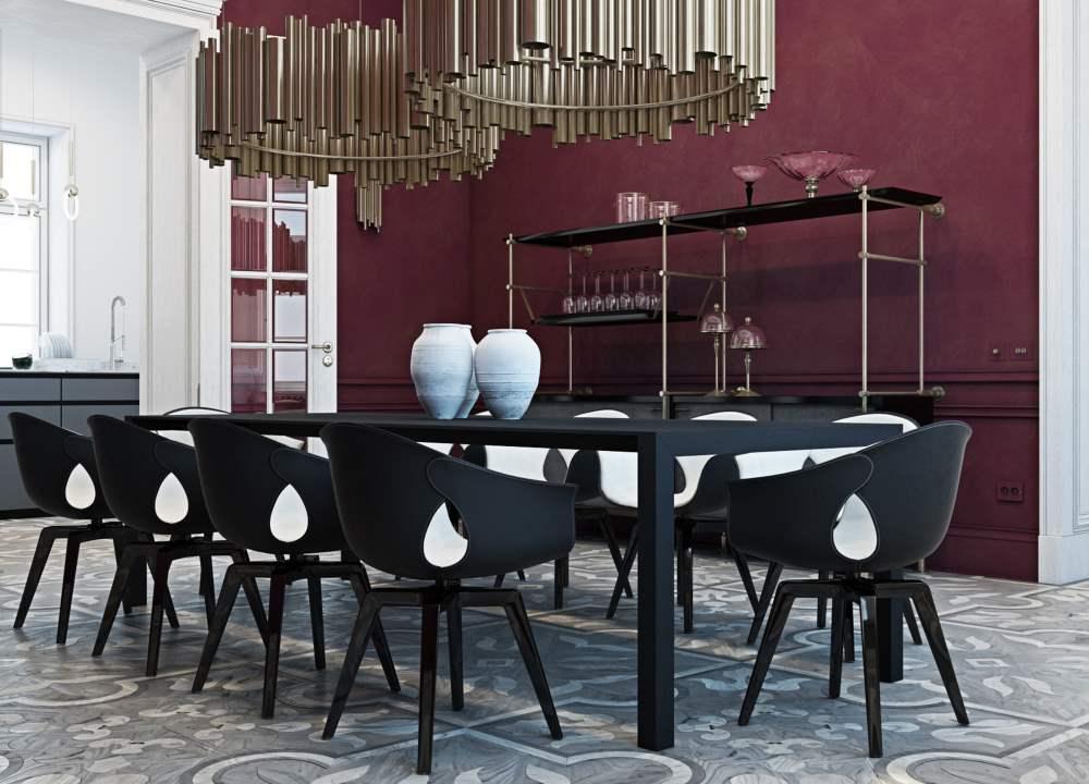 Esszimmer mit Esstisch für 10 Personen