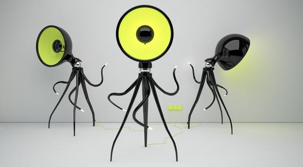 Design Lampe Octopussy, Bild Vladimir Tomilov