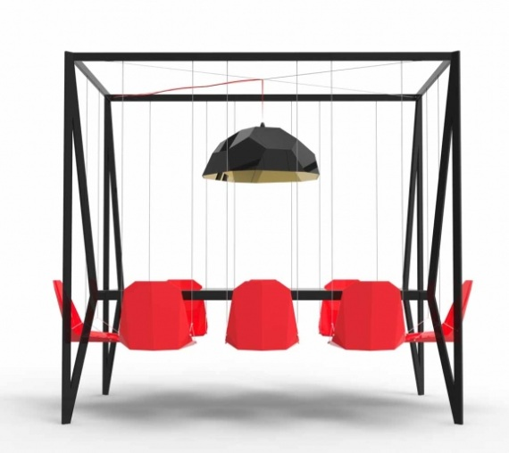 swing tabel designtisch f r besprechungen design m bel. Black Bedroom Furniture Sets. Home Design Ideas