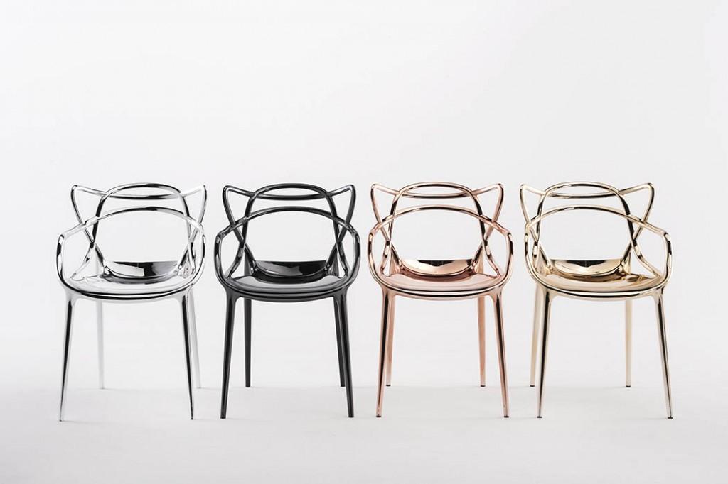 neue metalloberfl che von kartell design m bel. Black Bedroom Furniture Sets. Home Design Ideas