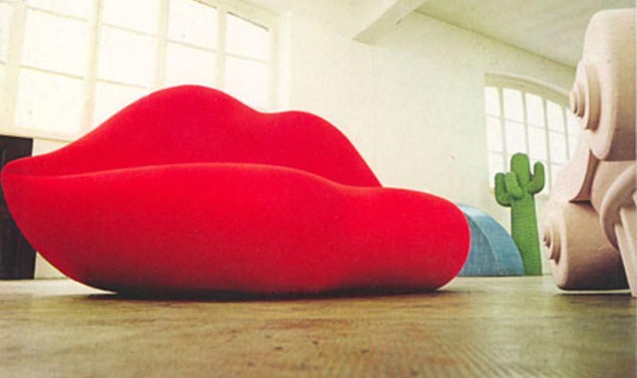 Bocca ein sofa in lippenform sexy und extravagant for Sofa italienisch