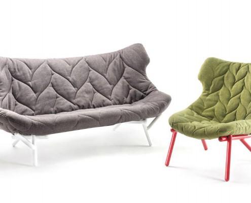 Foliage Couch mit Sessel im selben Stil