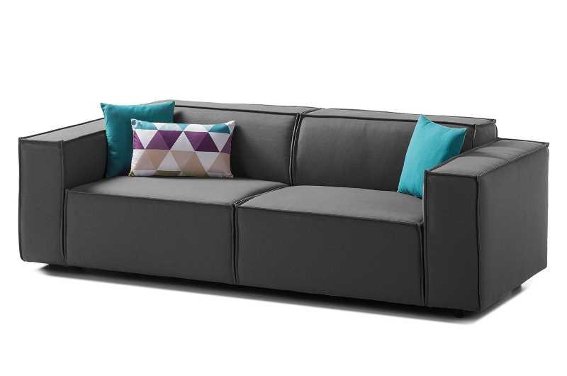 Zweieinhalbsitziges Sofa mit Webstoffbezug