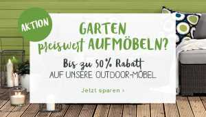 Gartenmöbelrabatt, so günstig wie noch nie