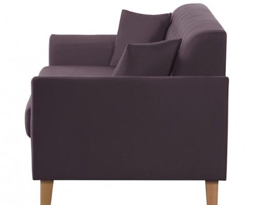 Sofa Linear mit tapezierter Rückwand, kann dadurch frei aufgestellt werden