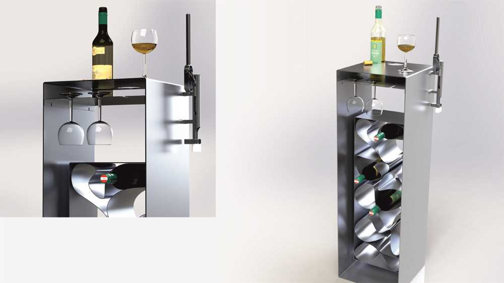 weinregal und lagerung von wein design m bel. Black Bedroom Furniture Sets. Home Design Ideas