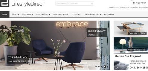 Hochwertige und exklusive Möbel und Wohnaccessoires von Lifestyle Direct