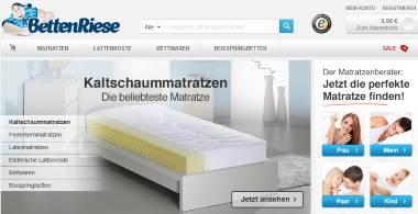 BettenRiese Matratzen online Shop mit Gratislieferung