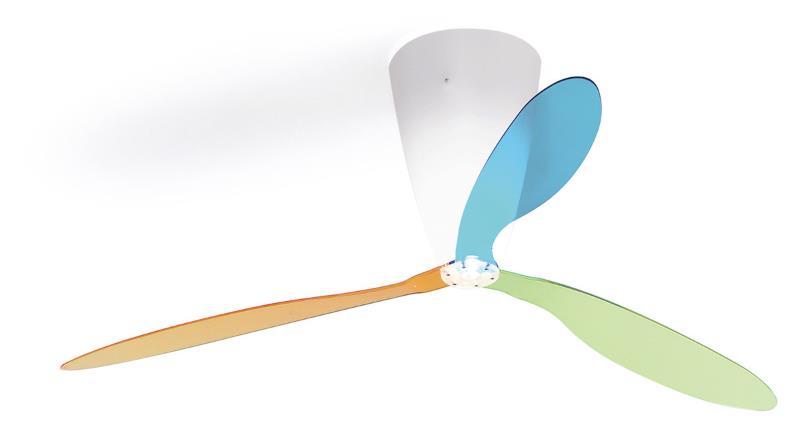 Blow Deckenleuchte und Ventilator