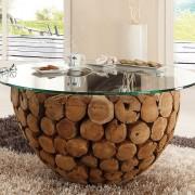 Couchtisch Josue aus Glas und Holz
